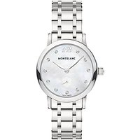 Montblanc 110305 Womens Star Classique Lady Stainless Steel Bracelet Strap Watch, Silver