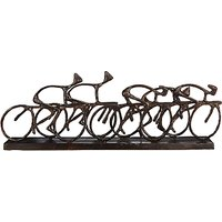 Libra Antique Bronze Cyclists Sculpture