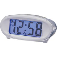 Acctim Eclipse Solar Alarm Clock, Silver