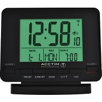 Acctim Radio Controlled Couples Alarm Clock, Black