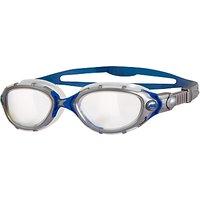 Zoggs Predator Flex Swimming Goggles, Silver/Blue