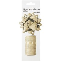 John Lewis Gift Bow and Curling Ribbon Set, Gold