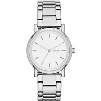 DKNY NY2342 Womens SoHo Bracelet Watch, Silver/White