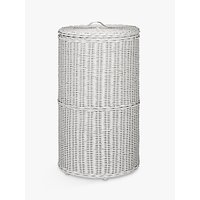 Croft Collection Rattan Round Laundry Bin, Grey