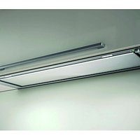 Elica Hidden Integrated Cooker Hood, Stainless Steel and White Glass