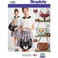 Simplicity Craft Bag Sewing Pattern, 1181, One Size
