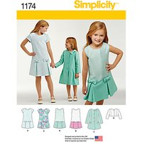 Simplicity Childrens Dress Sewing Pattern, 1174