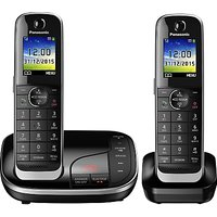 Panasonic KX-TGJ322EB Digital Cordless Phone with Nuisance Call Control and Answering Machine, Twin
