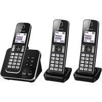 Panasonic KX-TGD323EB Digital Cordless Phone with Nuisance Call Control and Answering Machine, Trio