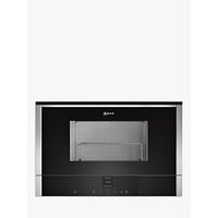 Neff C17GR01N0B Built-In Microwave with Grill, Stainless Steel