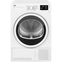 Beko DCJ83133W Condenser Tumble Dryer, 8kg Load, B Energy Rating, White