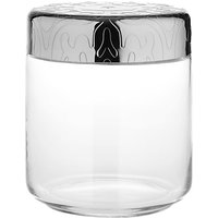 Alessi Dressed Storage Jar, Stainless Steel/Crystal Glass, 75cl