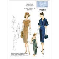 Vogue Womens Jacket, Top and Dress Sewing Pattern, 9082