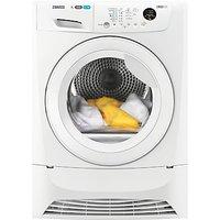 Zanussi ZDC8203W Condenser Tumble Dryer, 8kg Load, B Energy Rating, White
