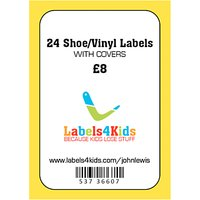 Labels4Kids Shoe/Vinyl Labels With Covers, Pack of 24