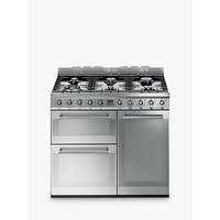Smeg SY93 Symphony Dual Fuel Range Cooker, Stainless Steel