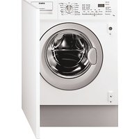 AEG L61271BI Built-In Integrated Washing Machine, 7kg Load, A++ Energy Rating, 1200rpm Spin, White