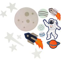 little home at John Lewis Space Glow in the Dark Wall Stickers