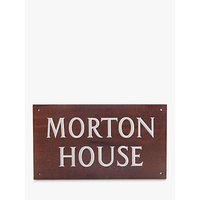 The House Nameplate Company Personalised Iroko Wood House Sign, 2 Line, W35.5 x H20cm