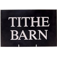 The House Nameplate Company Personalised Slate House Sign, 2 Line, W30.5 x H20cm
