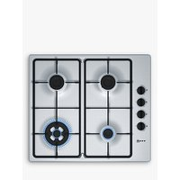 Neff T26BR56N0 Gas Hob, Stainless Steel