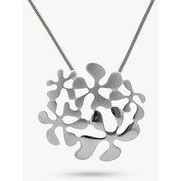 Nina B Sterling Silver Flower Pendant, Silver