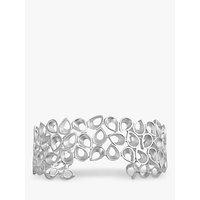 shop for Nina B Teardrop Silver Open Cuff Bangle, Silver at Shopo