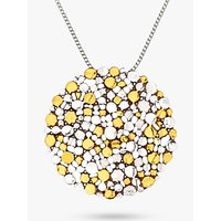 Nina B Large Silver Gold Plated Pendant Necklace, Silver