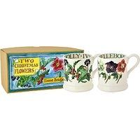 Emma Bridgewater Winter Flowers 1/2pt Mug, Set of 2
