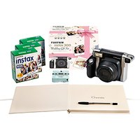 Fujifilm Instax 300 Wedding Pack with Instant Camera, 60 Shots, Photo Mounts, Wedding Guest Book & Pen