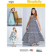 Simplicity Childrens Pullover Dresses Sewing Pattern, 1121