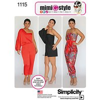 Simplicity Women's Playsuit and Jumpsuit Sewing Pattern, 1115