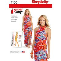 Simplicity Womens Jiffy Sarong Sewing Pattern, 1100
