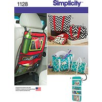 Simplicity Tote Bag and Organisers Sewing Pattern, 1128, One Size