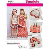 Simplicity Girls Clothes and Accessories Sewing Pattern, 1129