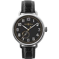 Bell & Ross BRWW197-HER-ST/SCR Mens Heritage Automatic Alligator Strap Watch, Black