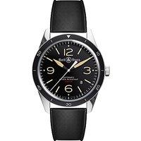 Bell & Ross BRV123-ST-HER/SRB Mens Vintage Sports Heritage Rubber Strap Watch, Black