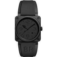 Bell & Ross BR0392-PHANTOM-CE Men's Aviation Ceramic Automatic Rubber Strap Watch, Black