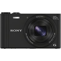 Sony Cyber-Shot WX350 Compact Camera, HD 1080p, 18.2MP, 20x Optical Zoom, Wi-Fi, NFC, 3 LCD Screen