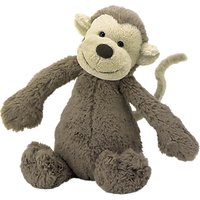 Jellycat Bashful Monkey Soft Toy, Huge, Brown