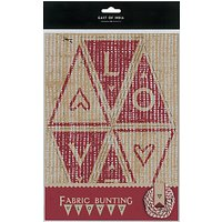 East of India Fabric Bunting Kit, Natural/Red