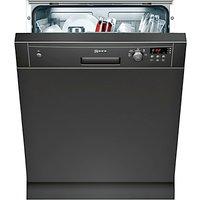 Neff S41E50S1GB Semi-Integrated Dishwasher, Black