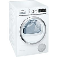 Siemens WT47W590GB Condenser Tumble Dryer, 8kg Load, A++ Energy Rating, White