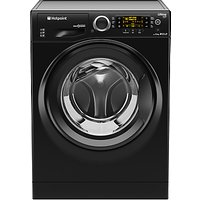 Hotpoint RPD10457JKK Ultima S-Line Freestanding Washing Machine, 10kg Load, A+++ Energy Rating, 1400rpm Spin, Black