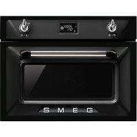 Smeg SF4920VCN Victoria Combination Steam Oven, Black