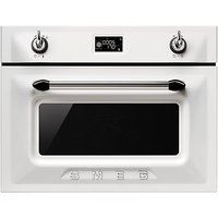 Smeg SF4920MCB Victoria Integrated Compact Combi Microwave Oven, White