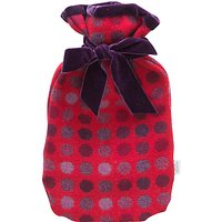 Melin Tregwynt Mondo Spot Hot Water Bottle, Red