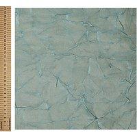 John Louden Shimmer Satin Fabric, Aqua