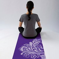 Gaiam Watercress Yoga Mat, Purple