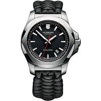 Victorinox 241726 Mens I.N.O.X Cord Strap Watch, Black